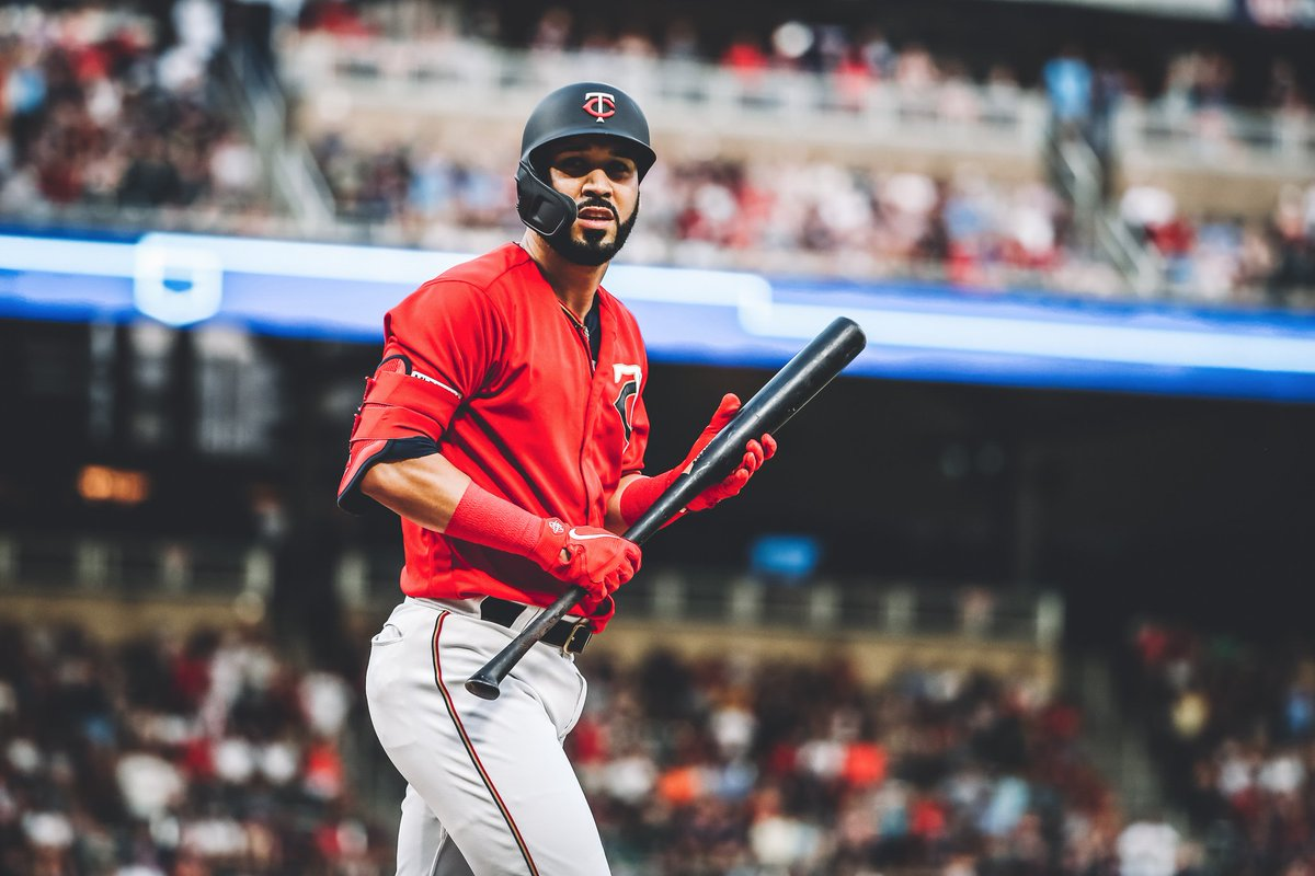When you and your bat just gave the squad the lead, and you just don't want to let go.   #MNTwins  <br>http://pic.twitter.com/tMIg3EbN7k