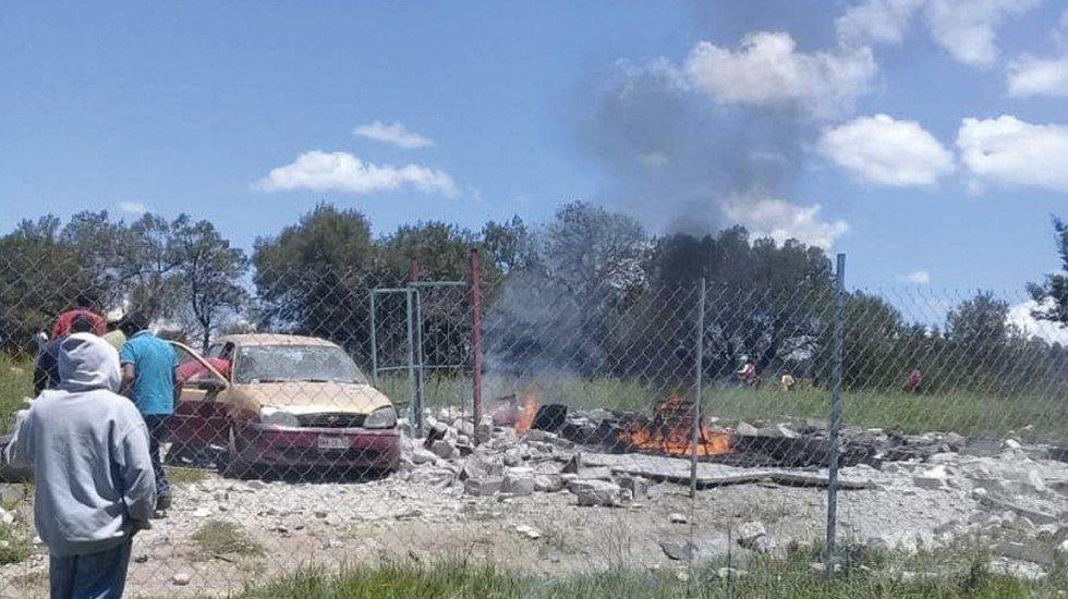 Explosión de polvorín deja dos muertos y un herido en Tlaxcala http://bit.ly/2Z2eGC1