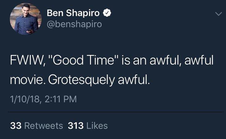 Ben Shapiro has no taste thread: