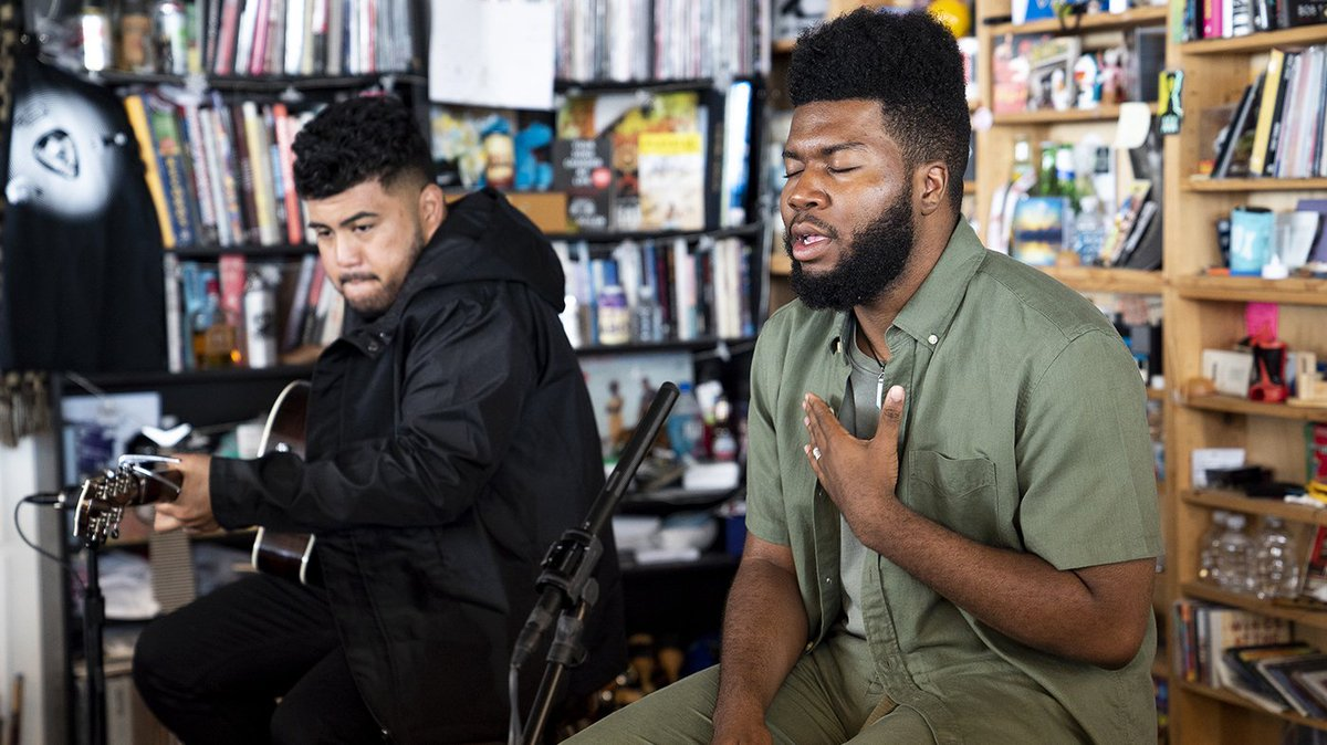 Let's slide into Friday with Khalid on Tiny Desk. #BATTLEANNUALLY Powered by @FoundationTfj. https://t.co/xaaob5qiwU https://t.co/w74yLJEzNM