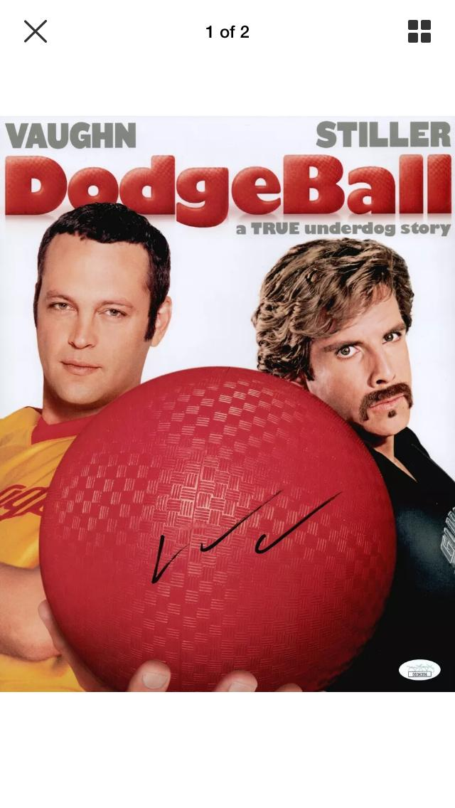 "Looking on eBay for a Rip Torn autographed dodgeball and came across the laziest autograph I have ever seen by Vince Vaughn ""If you can dodge a wrench, you can dodge a ball."" #RipRip https://t.co/2fJJecqQeS"