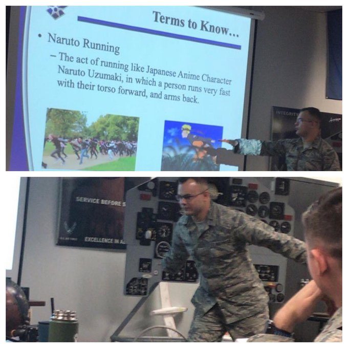 RT @RobedJoe: The Air Force must have talked about the Area 51/Naruto running meme during a meeting https://t.co/RicumrTJTd