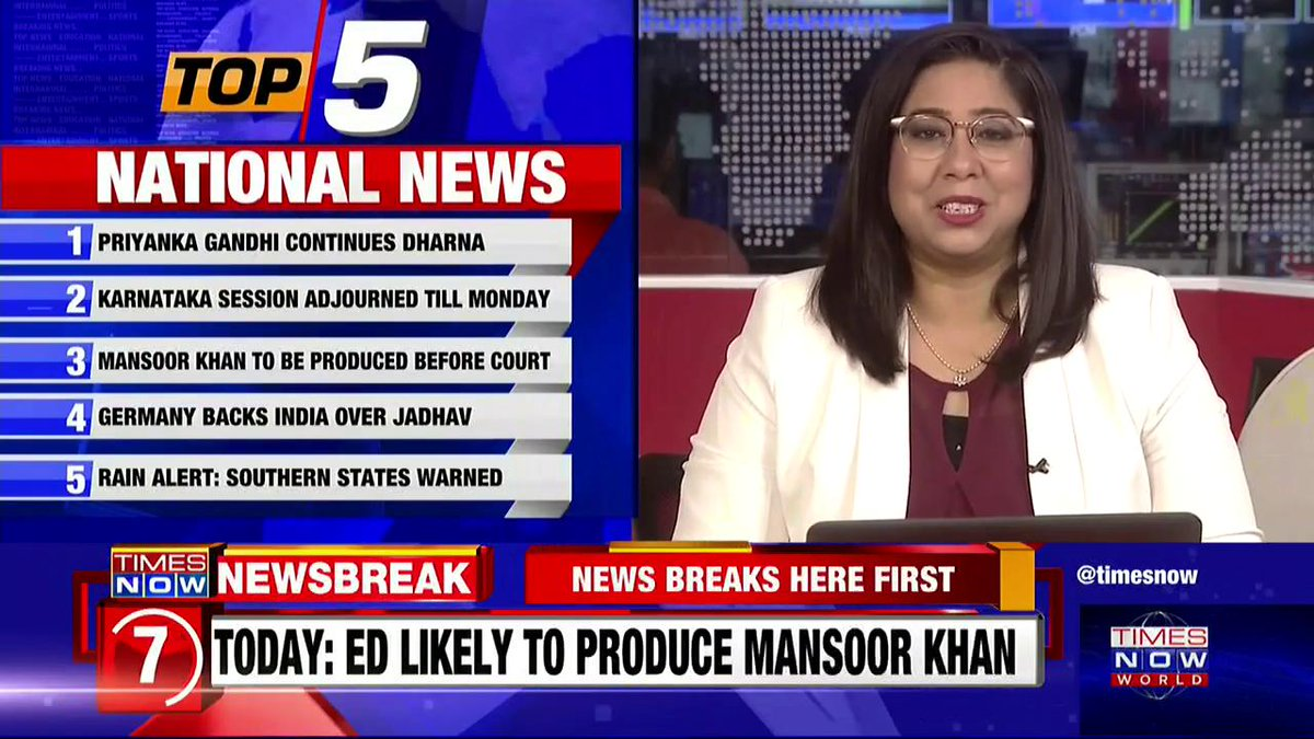 TIMES NOW's @MeghaSPrasad takes us through the morning headlines at this hour.