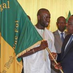 "Image for the Tweet beginning: Macky Sall félicite les ""lions"""