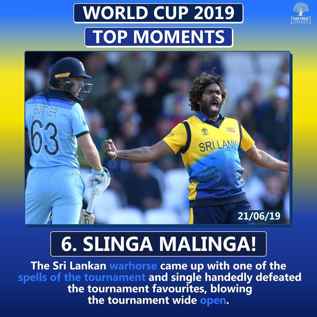 Lasith Malingaplayed a vintage spell against the tournament favorites. #cricketworldcup19 #cwc19 #Cricket