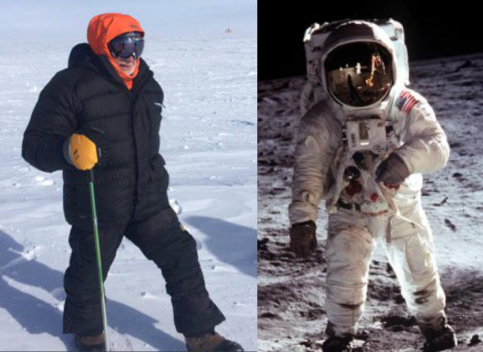 Extreme locations: Celebrating the 50th anniversary of the Apollo 11 Moon landing #OnThisDay #OTD in 1969 #MoonDay; here's Buzz Aldrin @TheRealBuzz on the Moon (photo taken by Neil Armstrong), & at the South Pole, 29 November 2016 #Apollo50 #Apollo50th #ApolloXI pics @NSF @NASA<br>http://pic.twitter.com/XIwthYSVuf