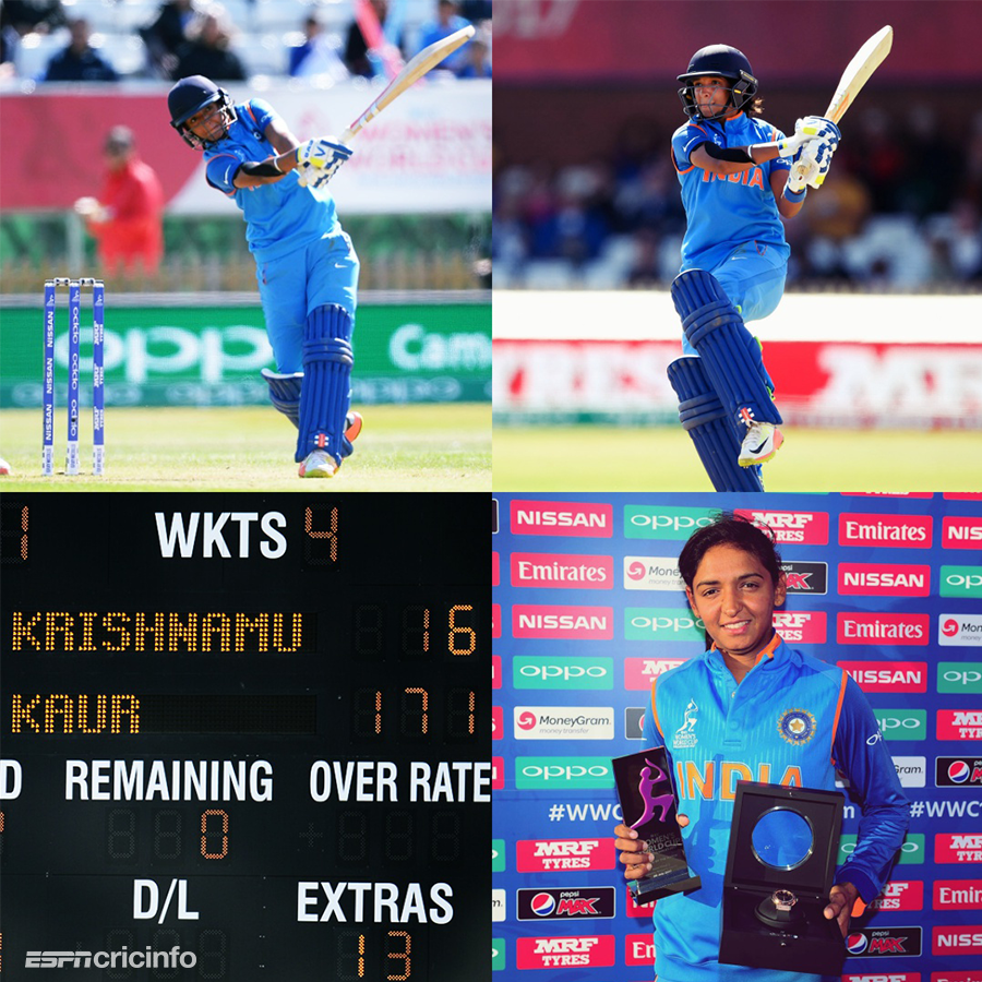 #OnThisDay two years ago, Australia were eaten by the Harmanpreet monster! From our archives, @ajarrodkimber on how her 115-ball 171 vaulted 🇮🇳 into the World Cup final: https://es.pn/2Lw3ZEN