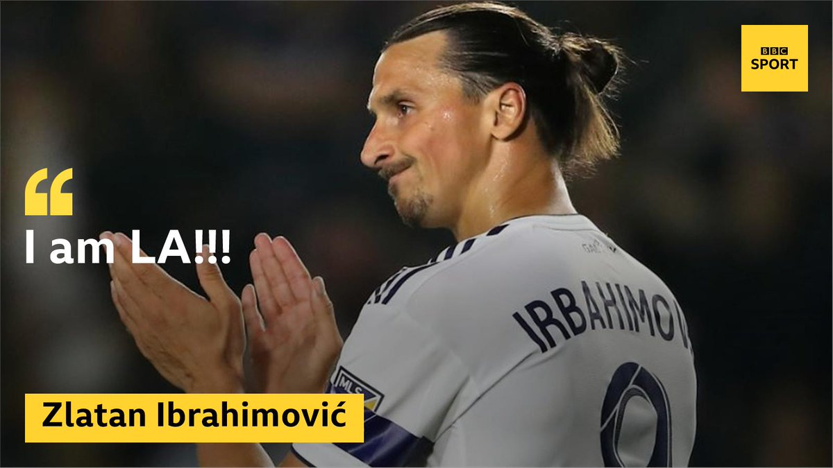 Perfect hat-trick? DONE! 🙌 Is there anything Zlatan Ibrahimovic can't do?! Full story ➡http://bbc.in/2xVwPWh #LA #MLS #bbcfootball