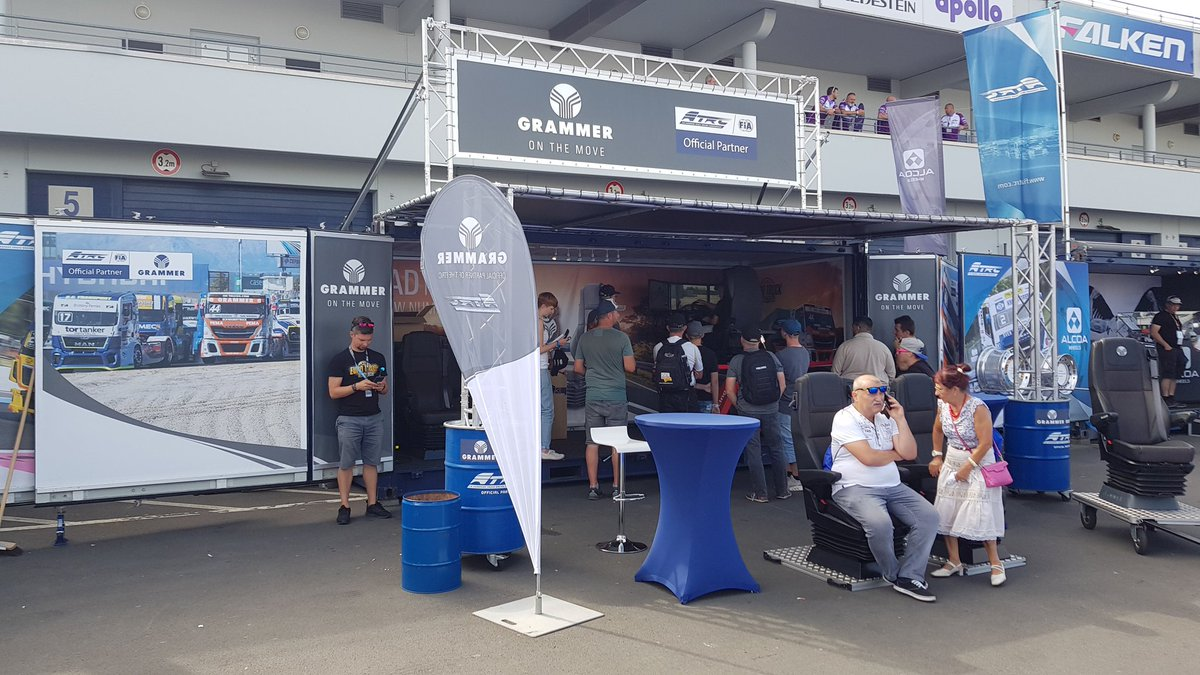 Our spot at the @FIA_ETRC round at @nuerburgring is ready and open