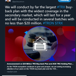 Image for the Tweet beginning: Interesting Observation:  The price of $TRX