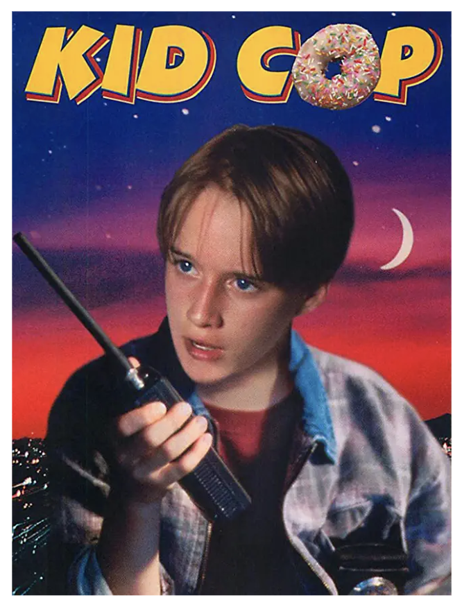 "I found this movie on Amazon Prime called ""Kid Cop"" and it had a bad poster so I decided to make a better one <br>http://pic.twitter.com/rRNbpryHLN"