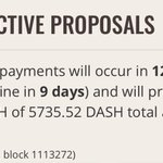 Image for the Tweet beginning: #Dash Budget - 12 days