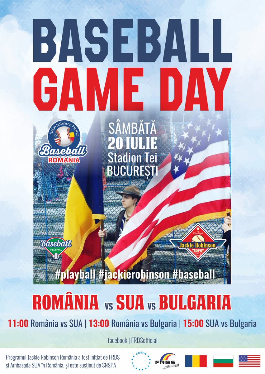 A fun day, today #baseball between friends - #Romania vs #USA, in #Bucharest. American soldiers, from #MKbase, playing with Romanian #national team.  #playball #jackierobinson #jackierobinsonday #feeling<br>http://pic.twitter.com/UWvuXUsMDs
