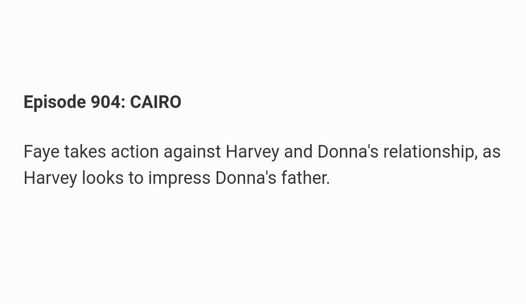 ICYM: episode title and summary for episode 904, #Suits   This episode may or may not contain a flashback. Directed by Anton Cropper. <br>http://pic.twitter.com/Hbag0zTD6f
