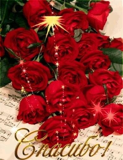 Спасибо розы гифы, открытка новым годом