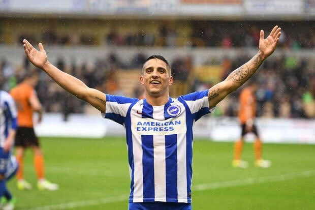 Brighton winger Anthony Knockaert had a medical at Fulham last night. Fee believed to be around £15m. (Source: SkySports)