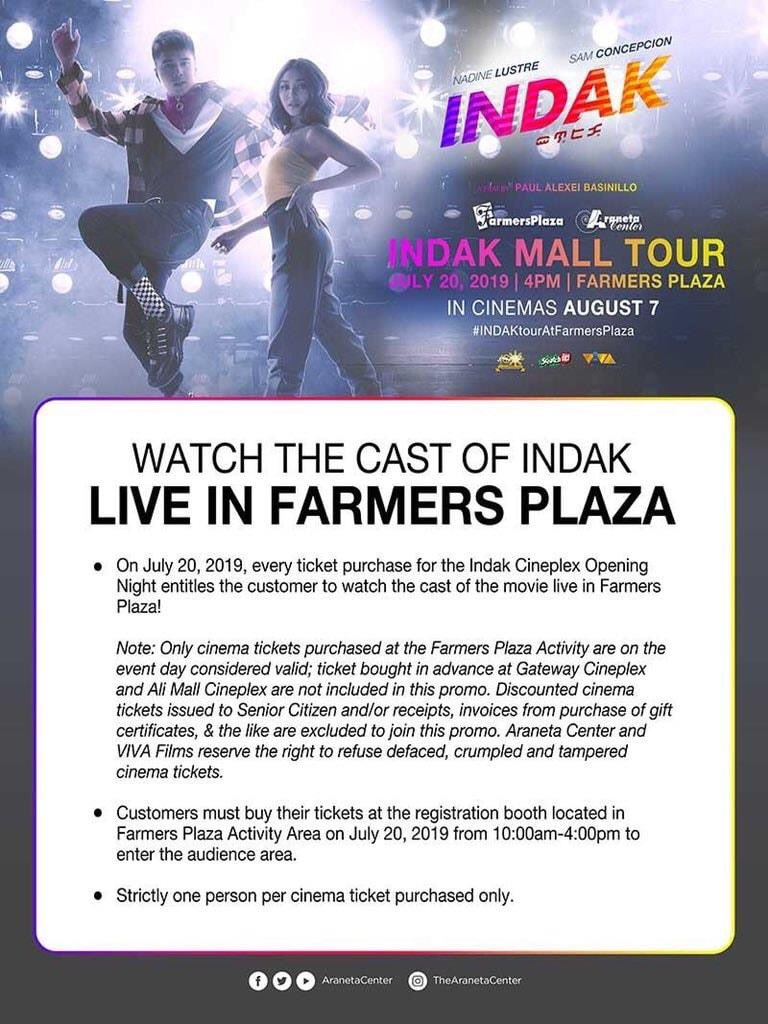 Have a fun filled Saturday with the INDAK casts at Farmers Plaza.  #IndakTourAtFarmersPlaza <br>http://pic.twitter.com/mLF4zZcCu0