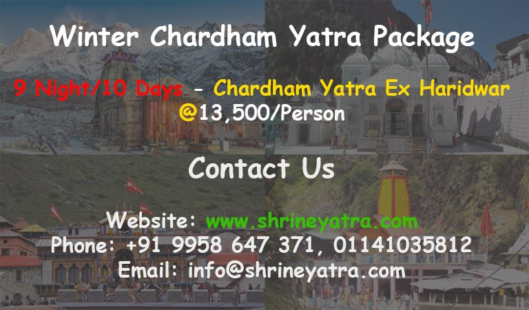 We have created a new Winter Chardham Yatra Package Offer 2019, Book Now Limited Period Offer!! #ShrineYatra  #Chardham  #ChardhamYatra  #ChardhamPackage  #Chardham2019