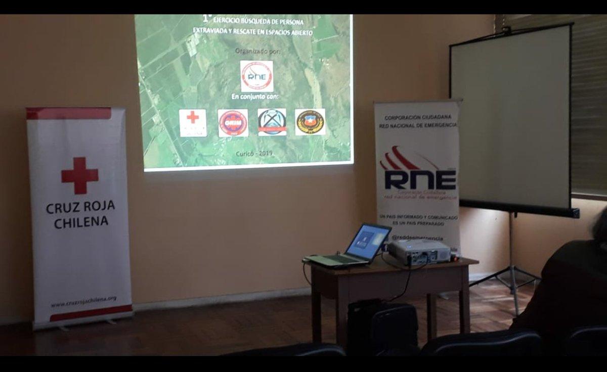 RT @reddeemergencia Voluntarios de la RNE en capacitación en #Curico en sede de la #CruzRoja .
