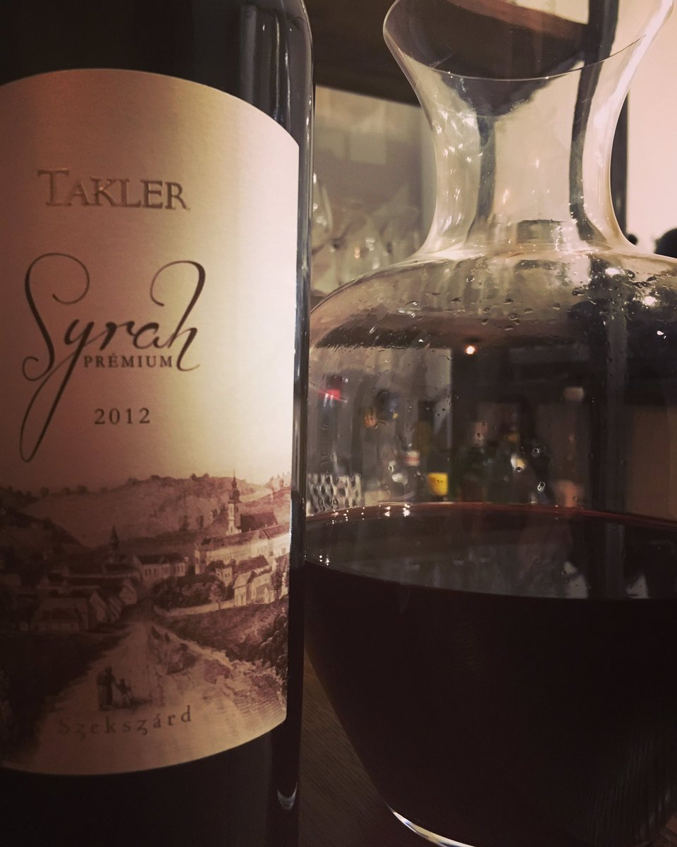 Hello Hungary! 🇭🇺🍷 Beautiful, balanced, complex, full bodied Syrah. I wish we had more! Need another trip to Budapest @robdant   #hungary #hungarianwine #syrah #takler #fullbodied #redwine #complex #wine #winetasting #travel