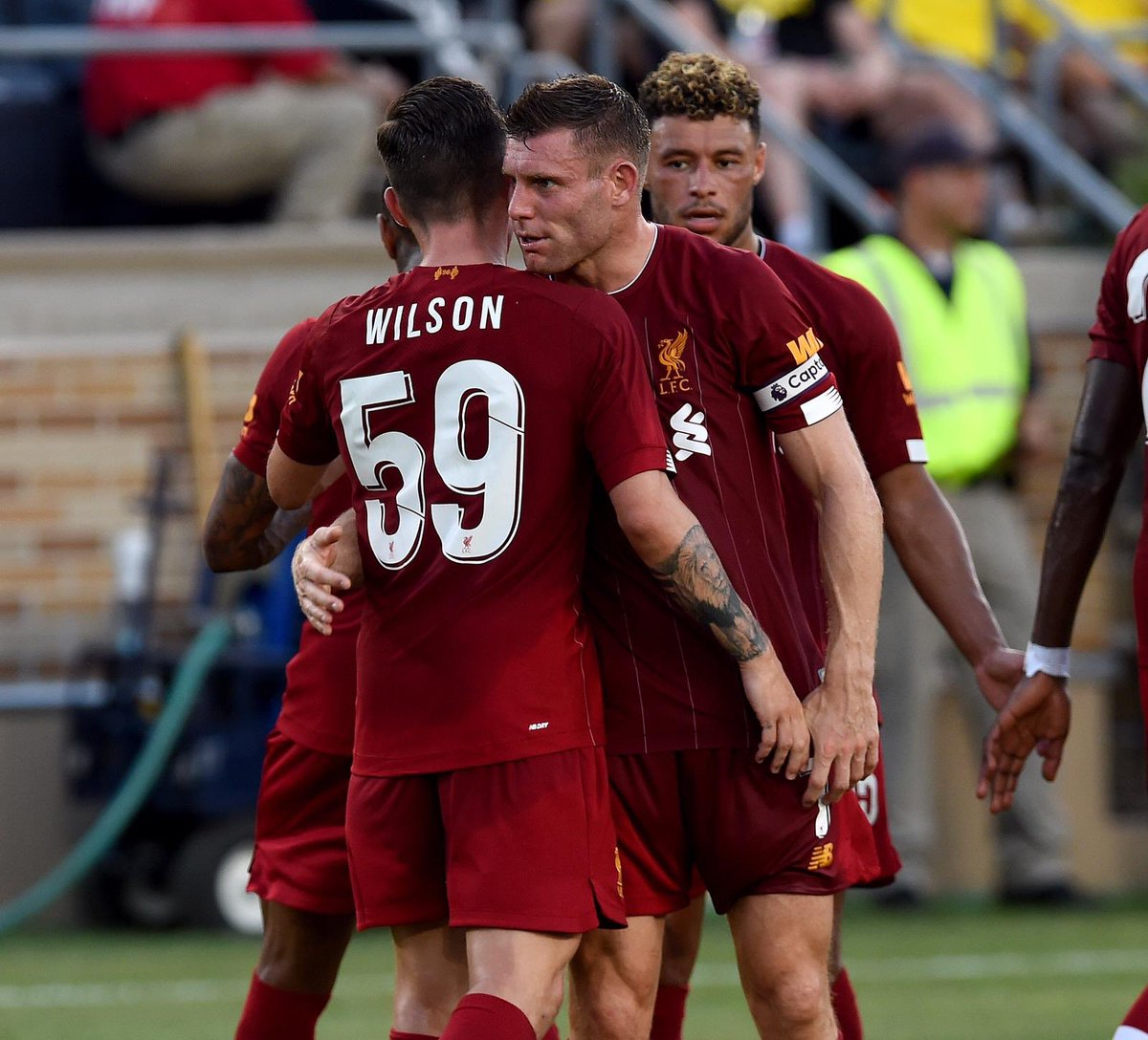 Great support in Indiana... not great that we turned up on the hottest day of the year 🥵🇺🇸 #YNWA #niceoneHarry https://t.co/3dHfxjDaQ0