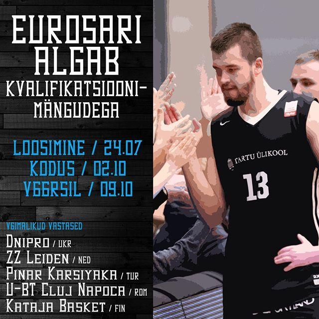 """test Twitter Media - Pärast aastast vahaega mängime taas euromänge. FIBA Europe Cup algab meie jaoks kvalifikatsioonimängudega.  Esimene mäng peetakse Tartus 2. oktoobril ja otsustav mäng võõrsil nädal hiljem.  Võimalikud vastased on: БК """"Днепр"""" Ukrainast, @ZZLeidenBasketbal… https://t.co/GEXFrwWsDy https://t.co/LL7XipFo0Z"""