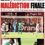 Image for the Tweet beginning: Le Quotidien N•4923 #Senegal #CAN2019