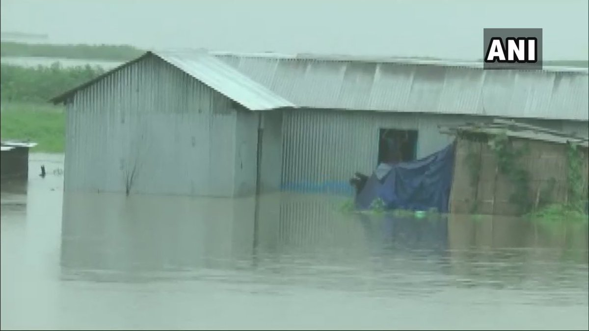 Assam: More than 600 villages have been flooded in Barpeta district due to heavy rainfall in the state. #AssamFloods