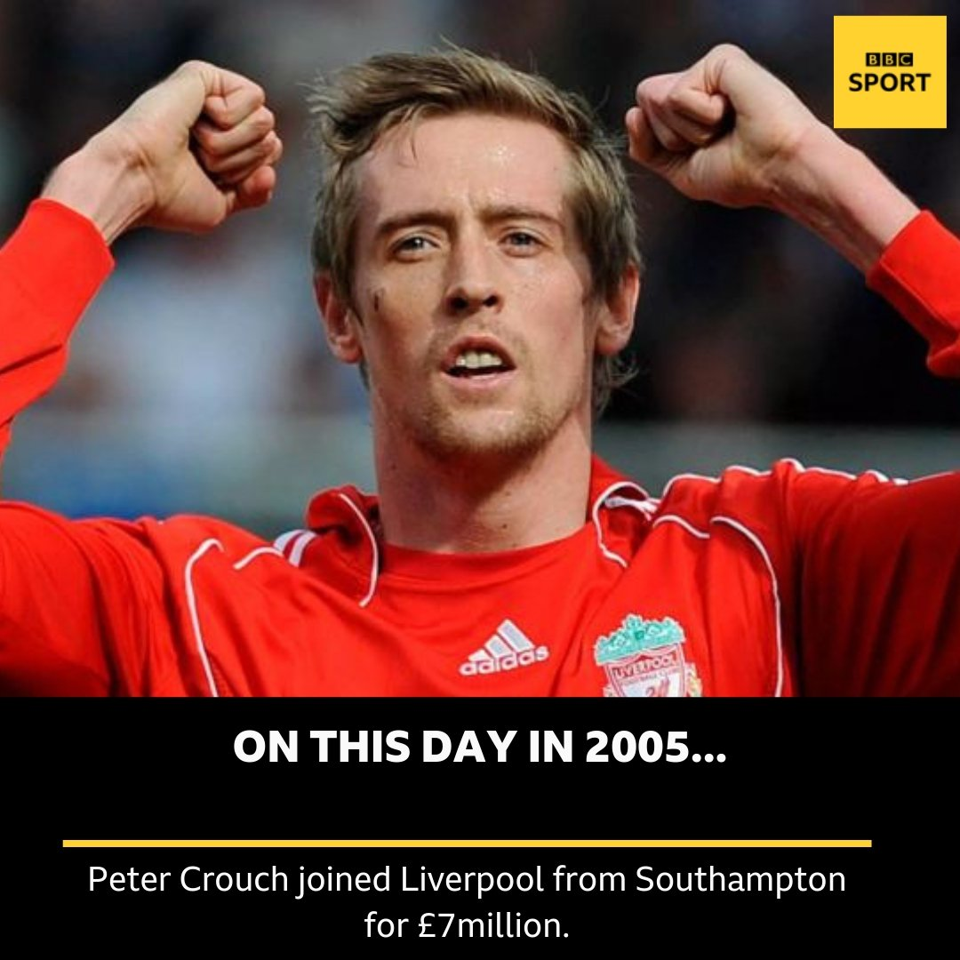 The rest is history! #LFC #bbcfootball @petercrouch