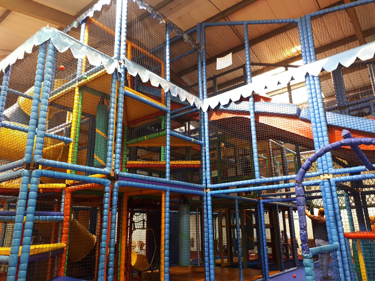 Had to take some time out yesterday for childcare reasons, so I'm catching up this morning on the WiFi at MONKEY MADNESS SOFT PLAY . Please send calming vibes and virtual earplugs... (NB picture timed to avoid showing actual hordes of marauding children) #WorkingMum<br>http://pic.twitter.com/YQrZM2VNMi