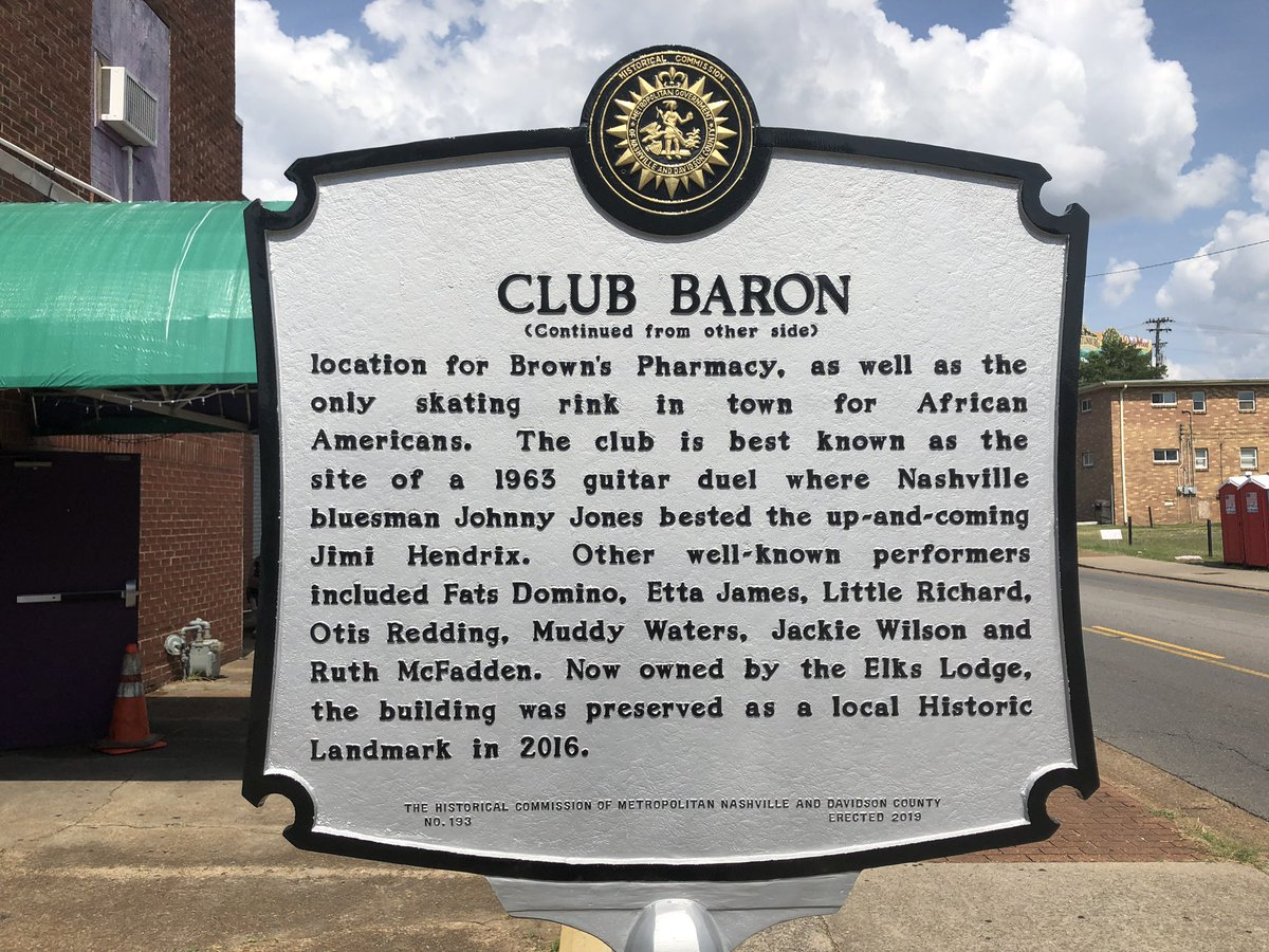 Scenes from the Club Baron Historical Marker ceremony in #northnashville. This is one of the most storied sites in the city.<br>http://pic.twitter.com/voqvxByiRH