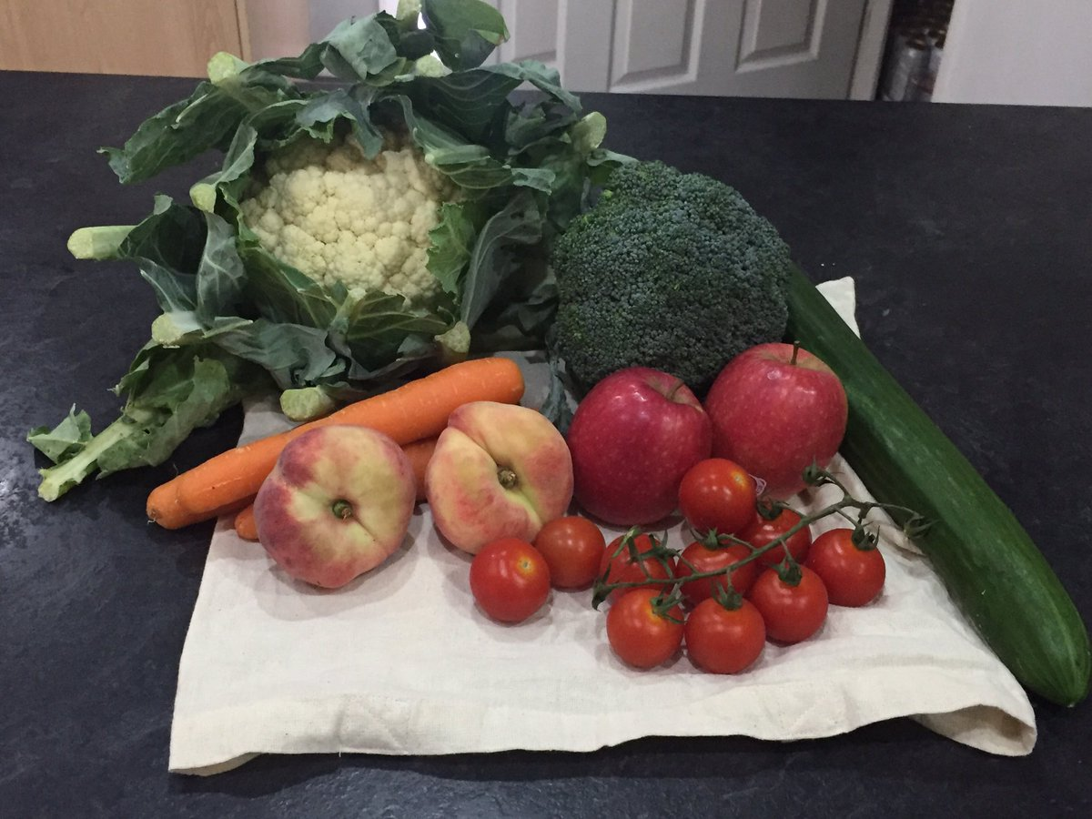 #WarOnPlastic #OurPlasticFeedback Just been to our local green grocer and bought all this with no plastic.