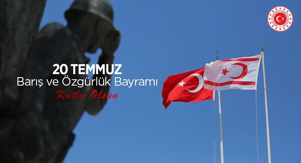 Türk Milletinin ayrılmaz parçası olan Kıbrıs Türkünün gururu ve çoşkusunu paylaşıyoruz.