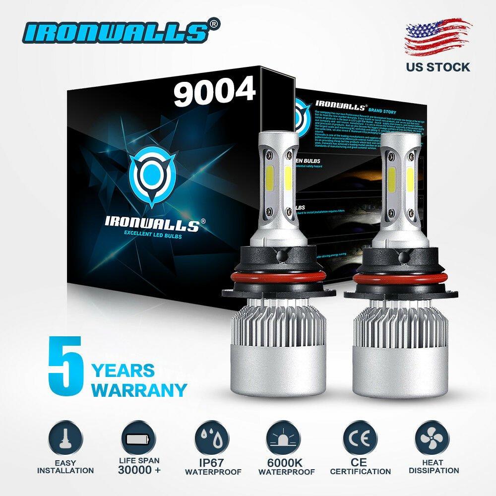 9004 HB1 CREE 1700W 255000LM LED Headlight Hi-Lo Beam Bulbs Replace XENON HID 6K