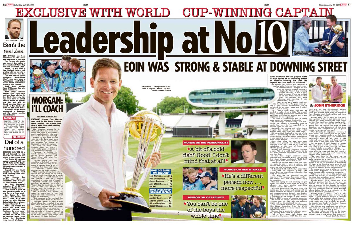 Spent the afternoon with England's World Cup winning captain #EoinMorgan at Lords ,when a week ago #englandcricket landed the #ICCWorldCup2019  #cricket<br>http://pic.twitter.com/NAoVx3MLEy