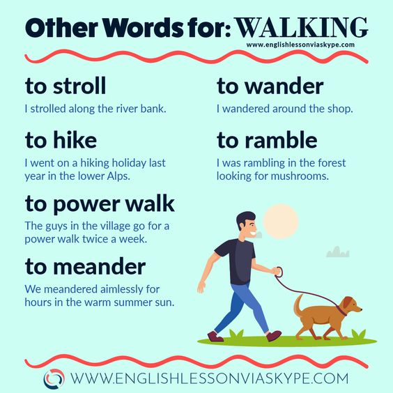 Here you will learn different words for WALKING in English. #clasesdeingles #expression #english #grammar #vocabulary #FelizFinde <br>http://pic.twitter.com/4lzK6cdHay