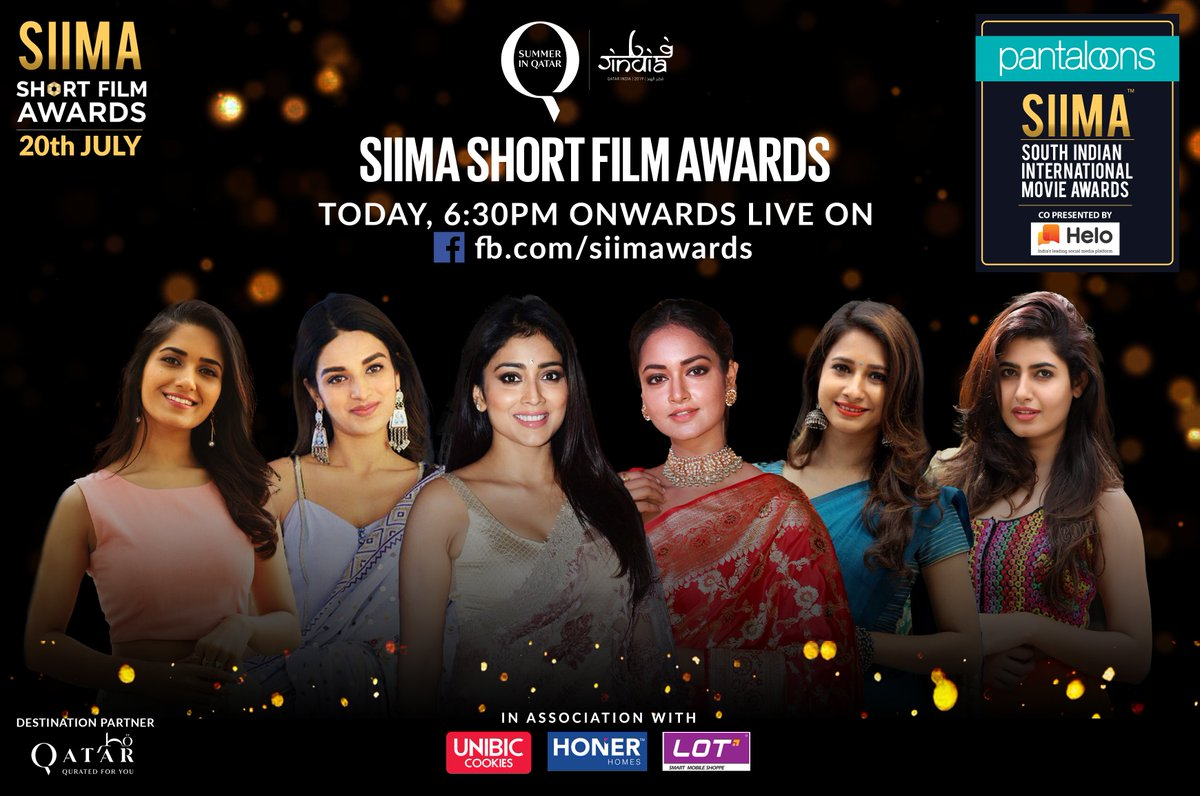 SIIMA is back with its 8th Edition to be held in Doha, Qatar on 15th and 16th August. India's leading fashion retail chain Pantaloons is roped in as the Title Sponsor for SIIMA2019.  The SIIMA Short Film Awards (Telugu & Kannada) at 6:30 PM today will be live on Facebook!