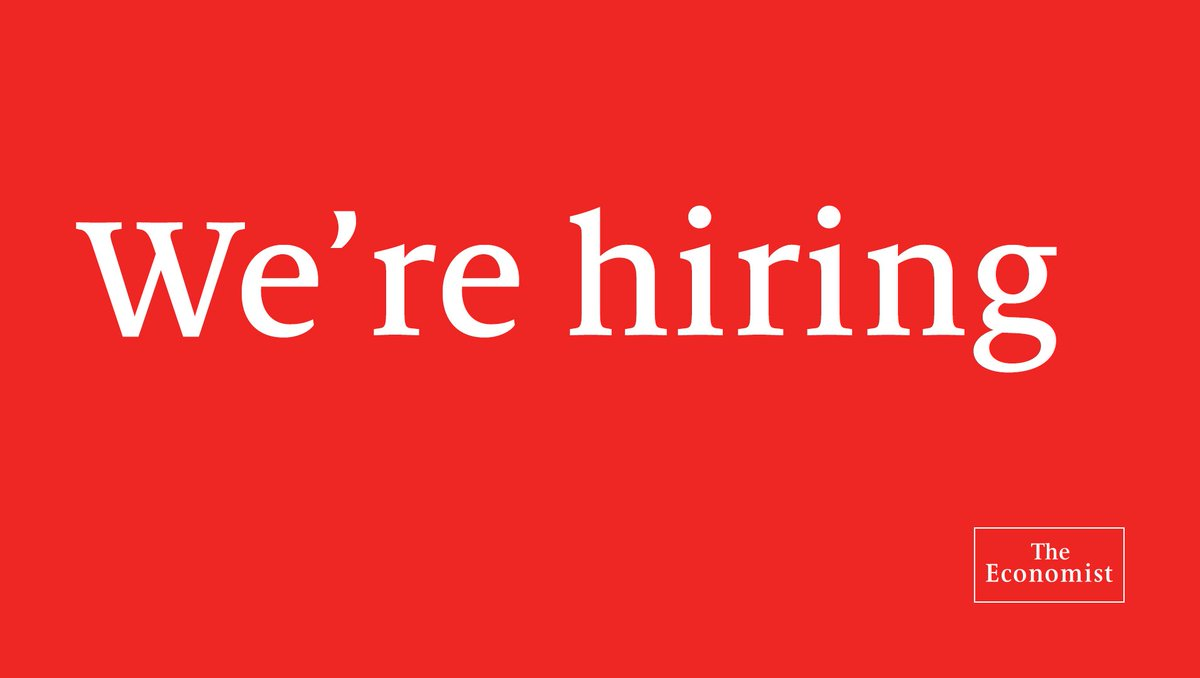 We are looking for a journalist to cover science and technology. Apply by August 23rd https://econ.st/2XYSTtx