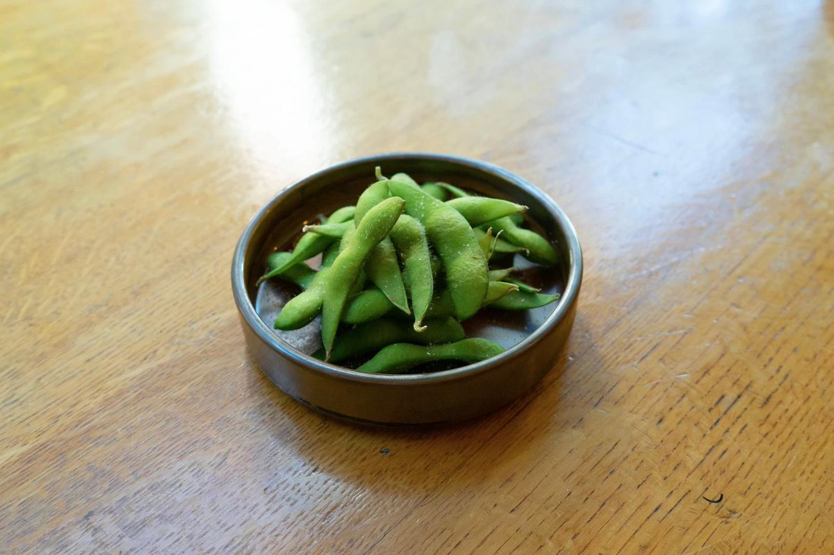 Have you tried our Edamame yet? These green soybeans are one of our favourites among the veggie starters you can find on @oitakitchen2018 menu served in our Restaurant! link to the menu here: https://buff.ly/2LkqLyv  #japanesefood #greenroomshotel #artshotel #northlondon