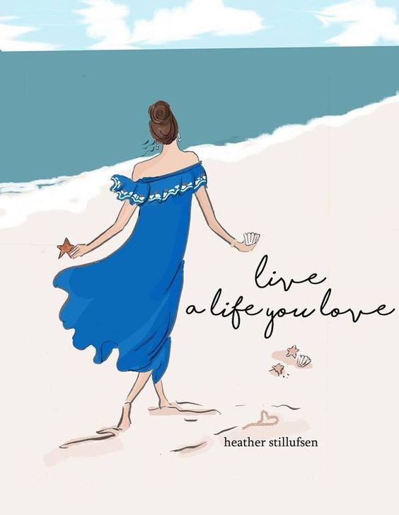 Inspiration ✨  Inspi of the day ... ❤️🌞 ✏️Heather Stillufsen   #love #sun #summer #life #quoteaboutlife #heatherstillufsen #inspi #weekend #illustration #creation