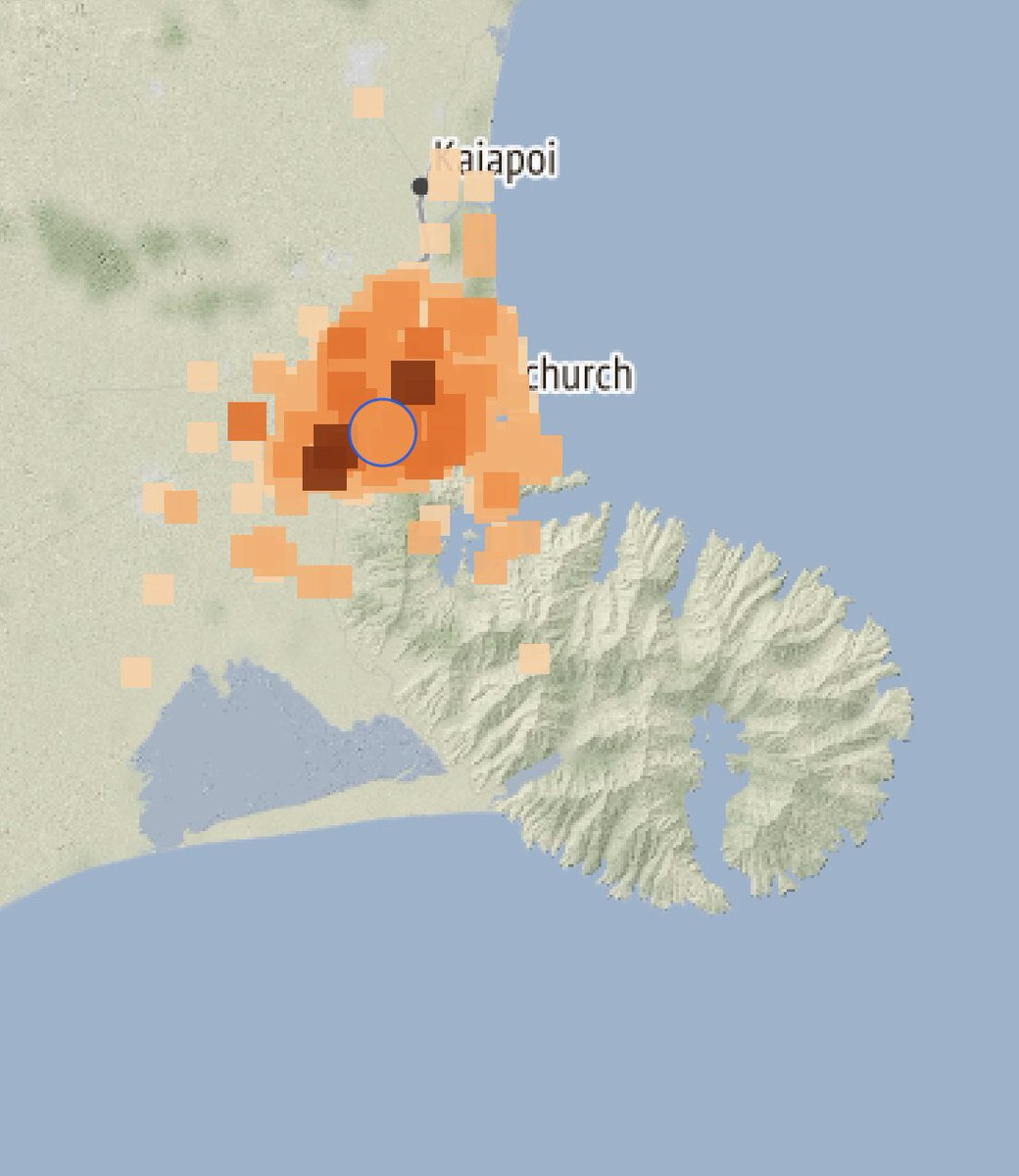 A shallow quake for Christchurch just now. The M3.5, 9km depth quake was felt right across the city. Over 4000 of you have already submitted felt reports #eqnz<br>http://pic.twitter.com/7LDE0d1rCx