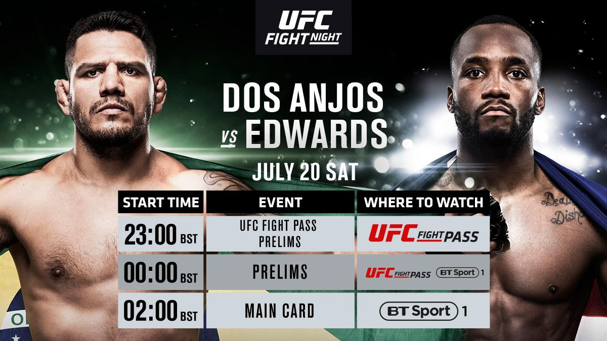 Tonight! @Leon_EdwardsMMA flying the flag for the UK at #UFCSanAntonio!  We kick off on @UFCFightPass then head to @BTSport 1