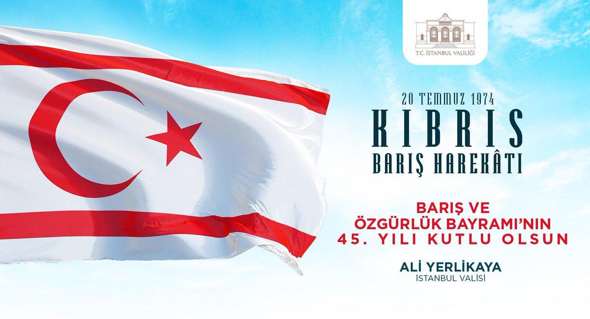 Tüm şehit, gazi ve kahramanlarımıza şükran, dua ve saygı ile...  45. Yıl Kutlu Olsun.  #KıbrısBarışHarekatı