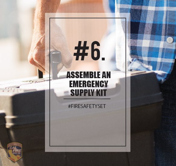 Put together your emergency supply kit long before a wildfire or other disaster occurs and keep it easily accessible so you can take it with you when you have to evacuate. Learn more: readyforwildfire.org