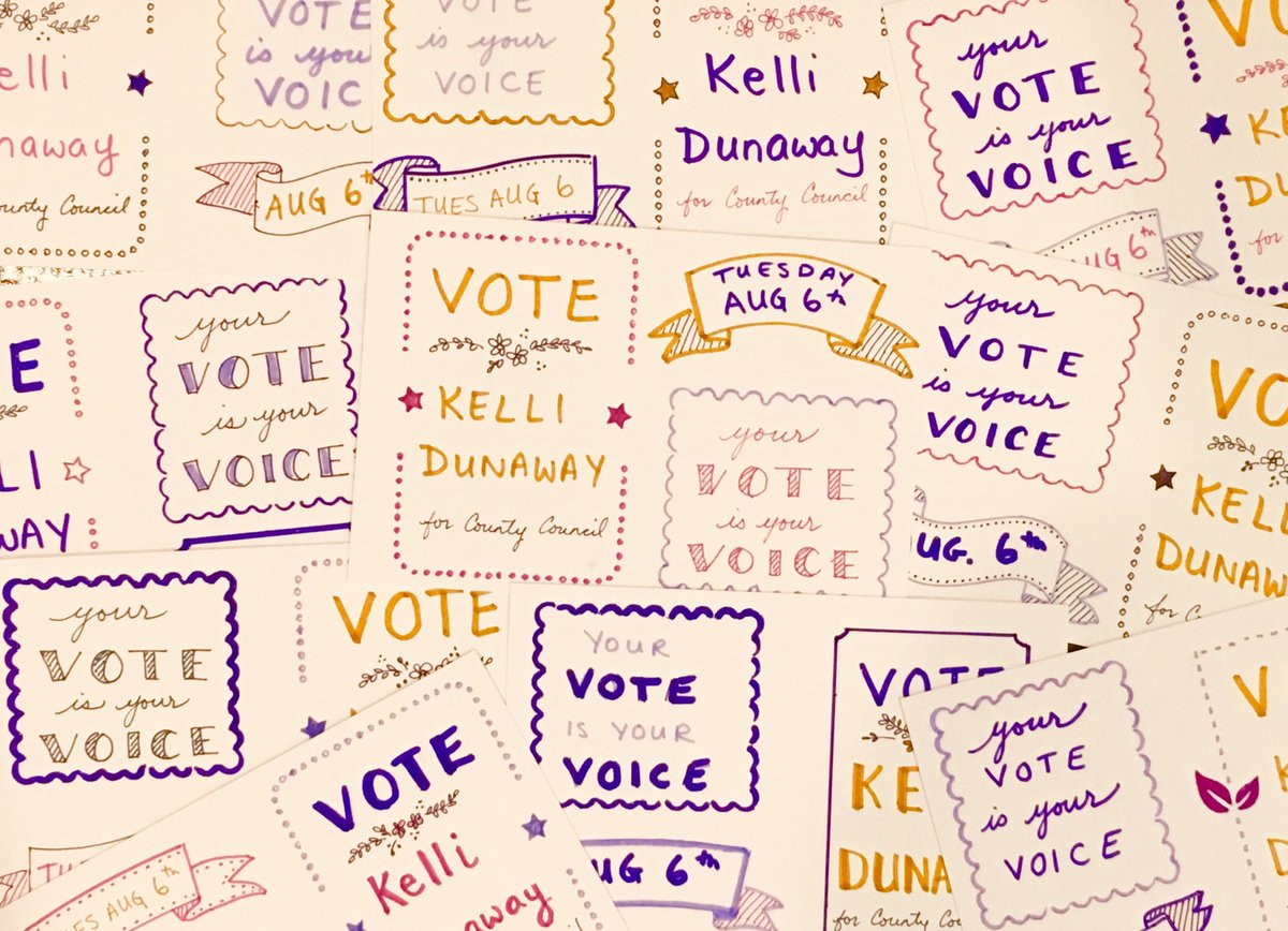 Missouri! Make a plan to vote Tuesday August 6 because EVERY election matters  Vote Democrat @DunawayKelli for St Louis County Council #BlueWave #PostcardsToVoters #TeamKelli<br>http://pic.twitter.com/AWifM4HqUx