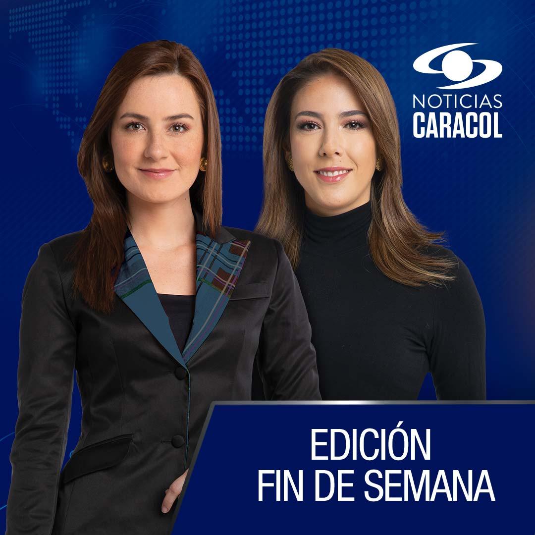 ¡Bienvenidos a la emisión de #NoticiasCaracol del mediodía fin de semana! Conéctese junto a @JuanitaGomezL y @danielapachon a nuestra señal EN VIVO >>> http://bit.ly/2uQzKwL