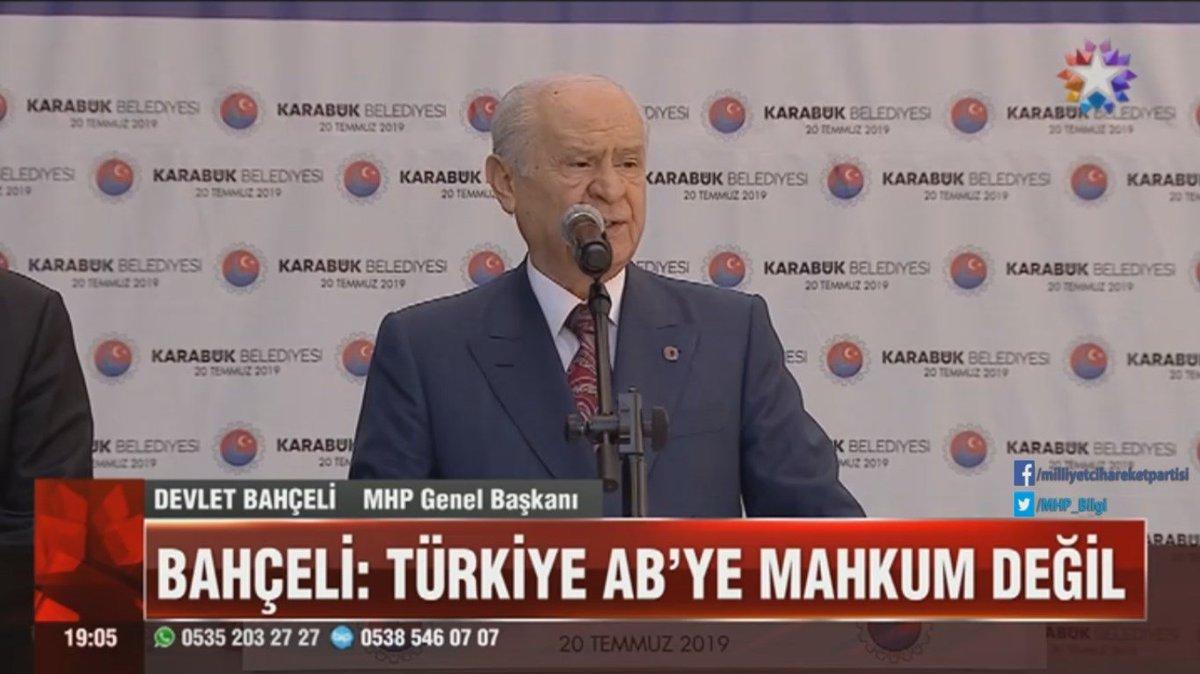 Türkiye, AB'ye mahkum değildir.