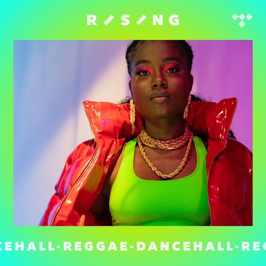 Huuuge thanks to @tidal for making me the face of their dancehall playlist! Go stream Nobody Man and tag me please!!