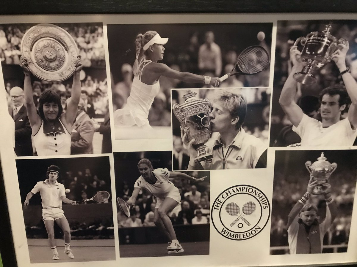 In a bar in Hamburg and see this photo - how young is @andy_murray ? #Wimbledon #Hamburg #memories