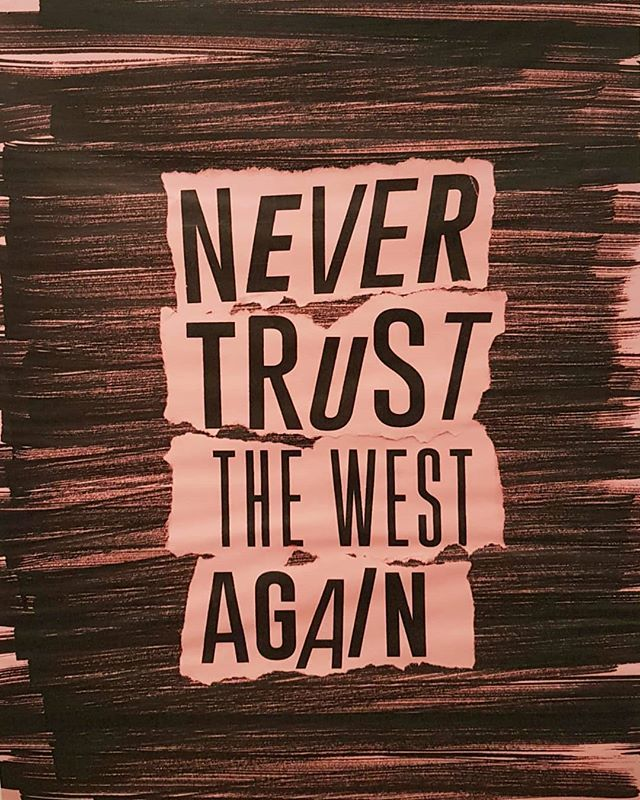 @the_coolest_couple #NeverTrustTheWestAgain #PrintOnPaper #EverydayLife #GalleriaCivicaTrento. #TheCoolCouple #ContemporaryArt @martmuseum @mlzartdep https://t.co/6XdsxYbvEn